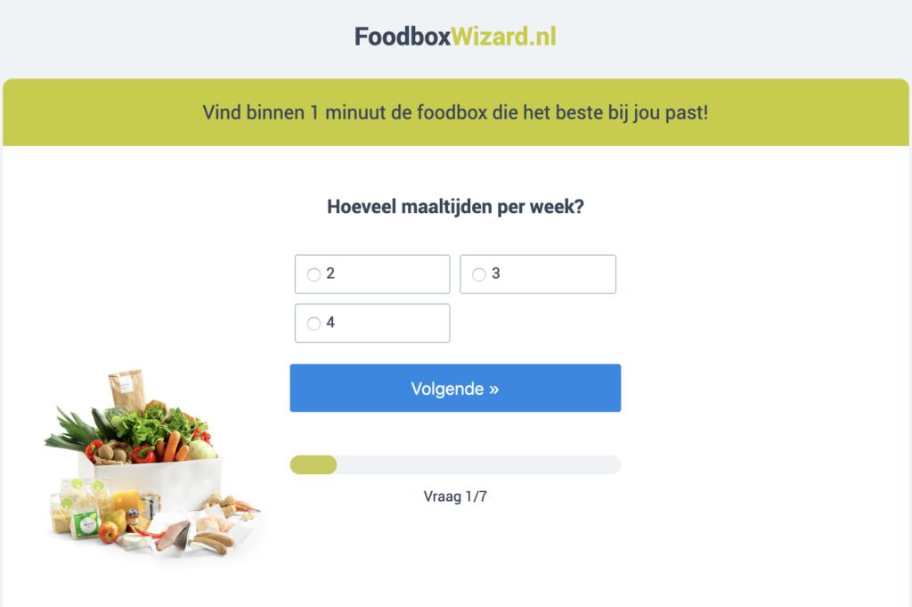 foodboxwizard maaltijdbox vergelijken