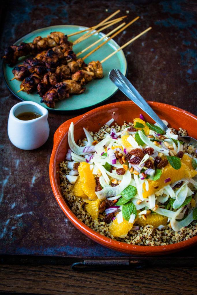 quinoa salade met venkel en sinaasappel