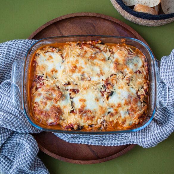 italiaanse aubergine lasagne