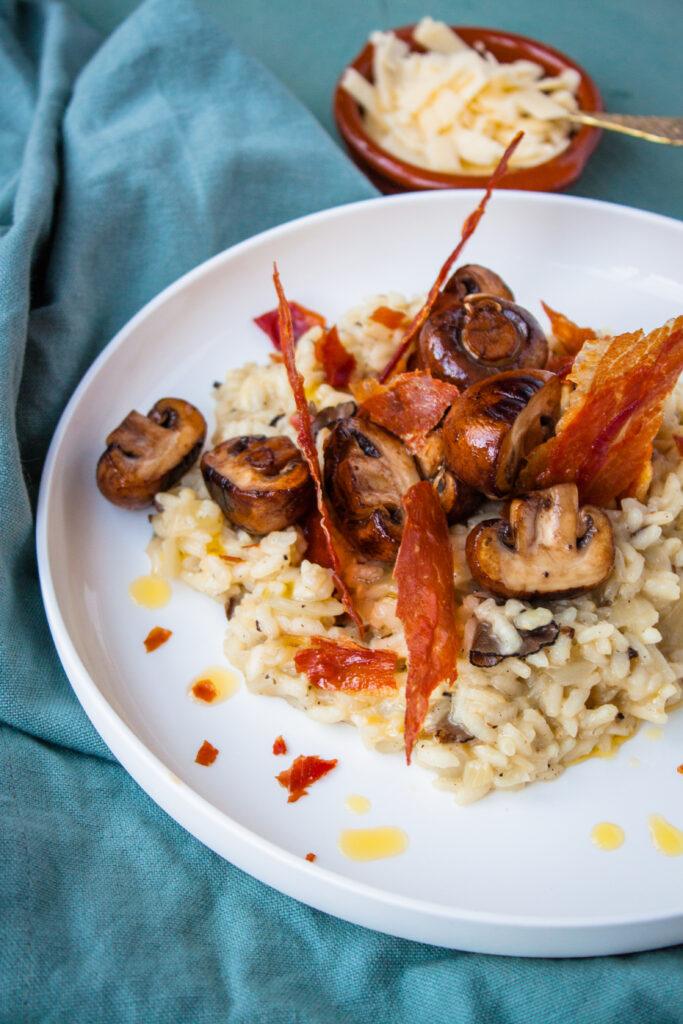 truffel risotto met prosciutto