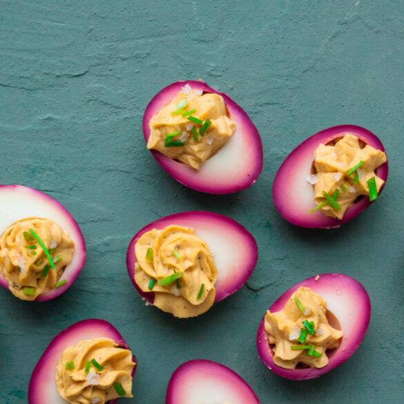 gevulde roze eieren vadouvan