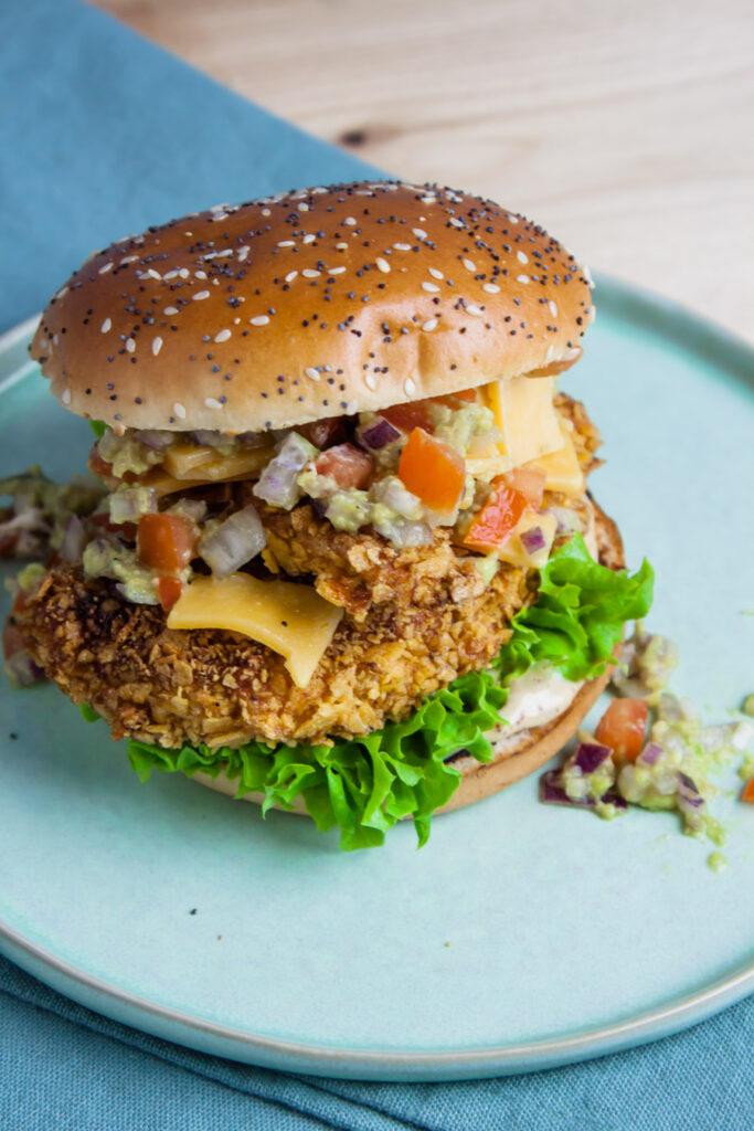 krokante kipburger